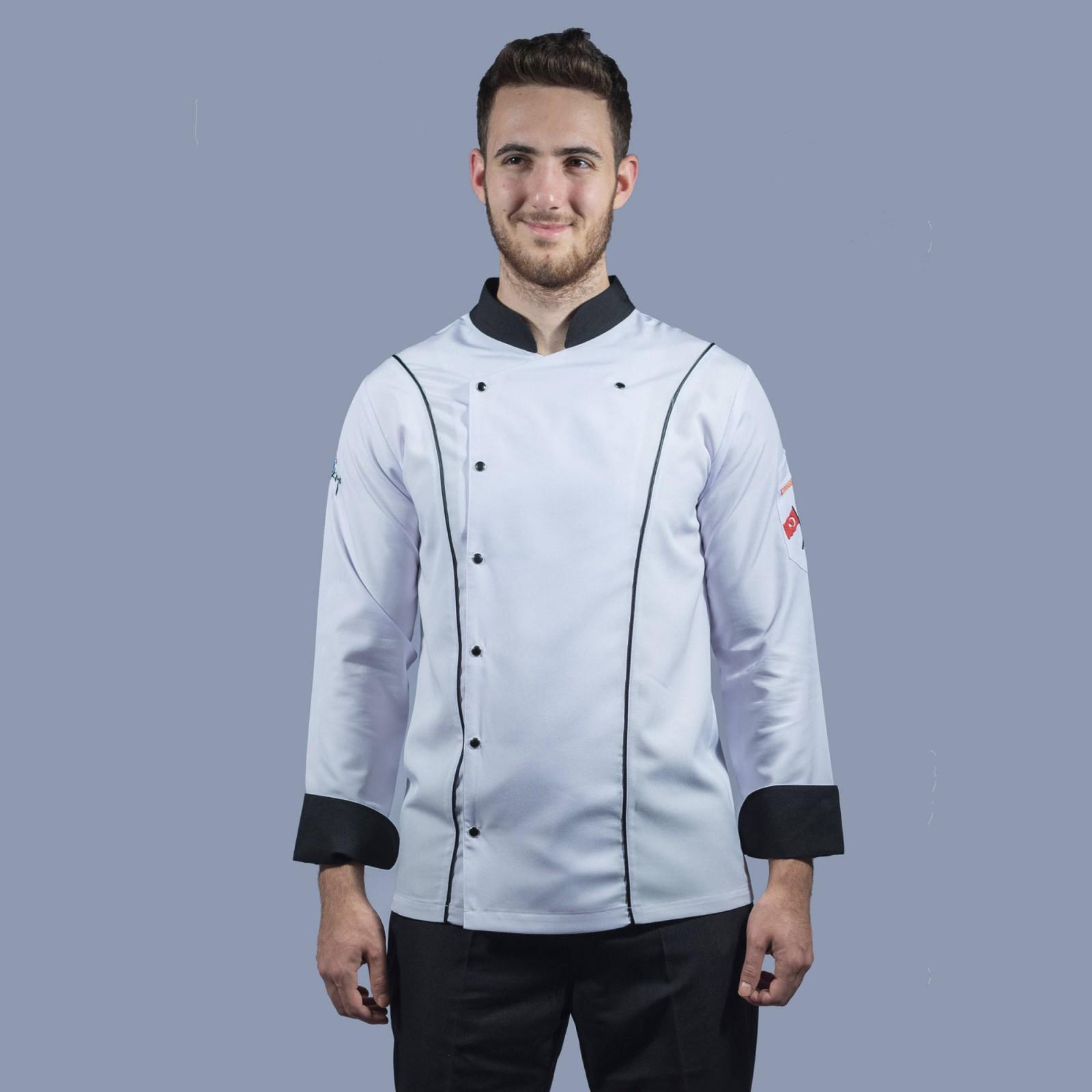 Erkek Aşçı Ceketi Hakim Yaka